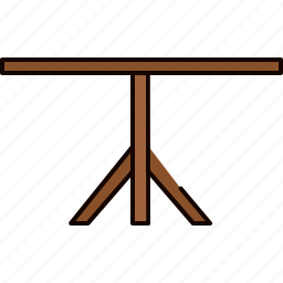 diningroom, leg, single, table, wooden icon