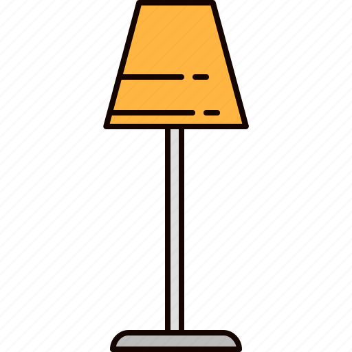 furniture, lamp, light, lighting, standing icon