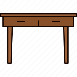 drawers, furniture, table, wooden icon