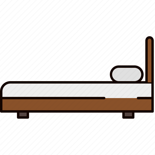 bed, fabric, furniture, side, twin, wooden icon