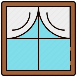 curtains, furniture, glass, window, wooden icon