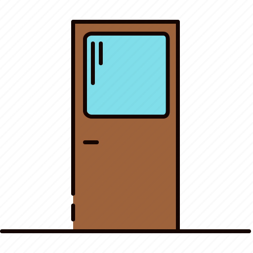 door, furniture, window, wooden icon
