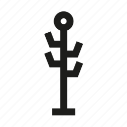 coat hanger, coat stand, furniture icon