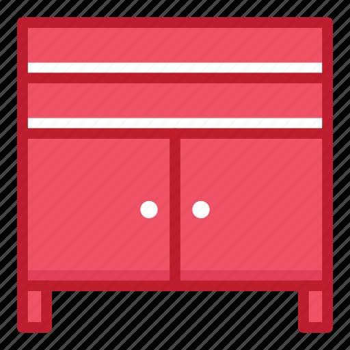 cupboard, desk, furniture, household, interior, shelter, stuff icon