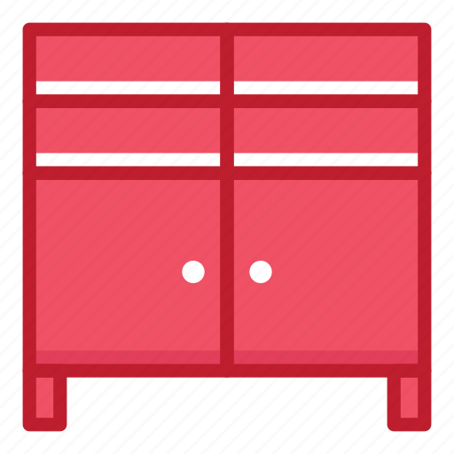 cupboard, furniture, household, interior, office, shelter, stuff icon