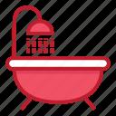 bath, furniture, household, interior, stuff, tube icon