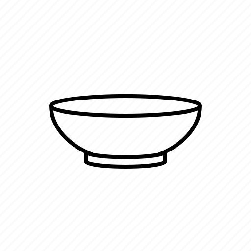bowl, cup, dining, dish, eat icon