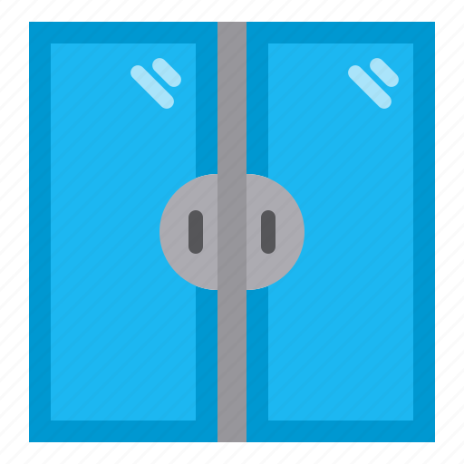 Building, door, double, entrance, exit, home, property icon - Download on Iconfinder