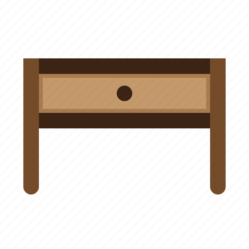belongings, furniture, household, households, table icon