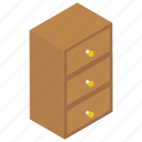 bureau, cabinet, chest of drawers, drawers, filing cabinet, office drawer icon