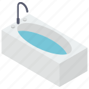 bath, bathtub, jacuzzi tub, shower tub, washtub icon