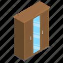 almirah, cabinet, clothes cabinet, cupboard, wardrobe icon