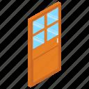 door, door exterior, entrance, exit, home door icon