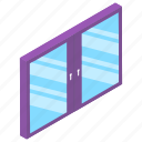 clean window, glass window, home exterior, ventilation window, windscreen icon