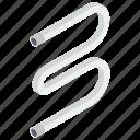 bulb, curved light, electric light, fluorescent tube light, luminous light icon