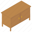bureau, cabinet, chest of drawers, drawers, office drawer, shoe cabins, storage cabins icon