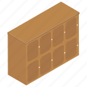 bureau, cabinet, chest of drawers, drawers, filing cabinet, office drawer, storage cabins icon