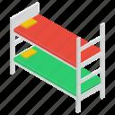 bedchamber, bedroom, bunk, dormitory, double deck bed, room interior, sleeping room icon