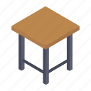 bedroom furniture, comfy seat, makeup stool, stool table, vanity stool icon