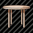 design, furniture, home, interior, round, style, table icon