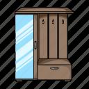 coat rack, design, furniture, hall, home, interior, mirror icon