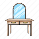 design, dressing, furniture, home, interior, mirror, table icon
