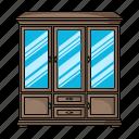 bureau, cabinet, design, furniture, home, interior icon