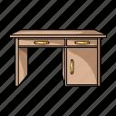 bedside table, design, desk, furniture, home, interior icon