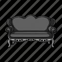 design, furnishings, furniture, interior, object, room, sofa icon