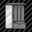 cabinet, design, furniture, interior, mirror, object, room icon