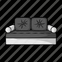 bed, design, furniture, interior, object, room, sofa icon