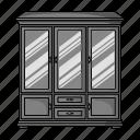 cabinet, design, furniture, glass, interior, object, room icon