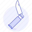 army, cold, folding, furniture, iconic, knife, objects, steel, weapon, white icon