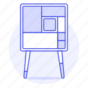 cabinet, furniture, leg, legged, long, modern, objects icon