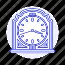 clock, clocks, furniture, mantel, metallic, objects, old, retro, shelf, vintage icon