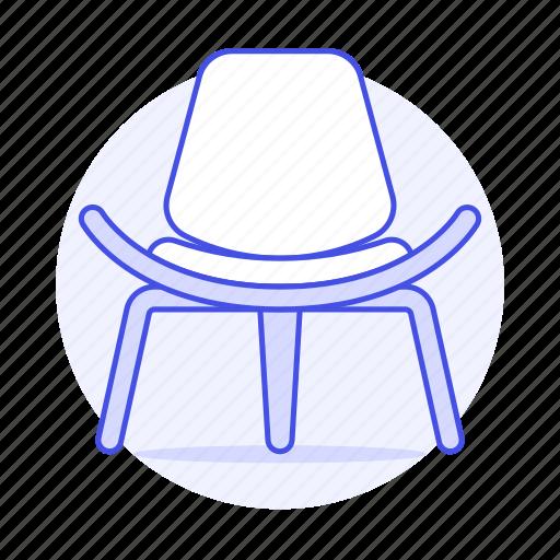 1, chair, chairs, furniture, legged, modern, objects, red, shell, sofa, sofas, three icon