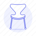 chair, chairs, furniture, objects, sofa, sofas, white icon