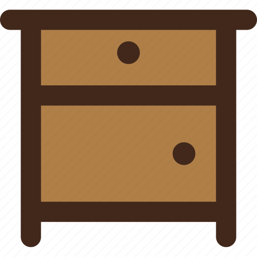bedside, furniture, nightstand, table icon