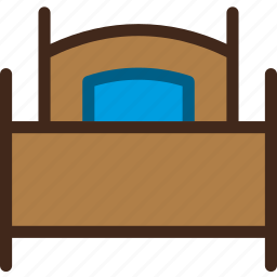 bed, bedroom, furniture, single, sleeping icon