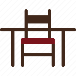 chair, dining, furniture, room, set, single icon