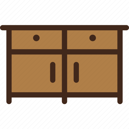 cupboard, furniture, interior, sideboard icon