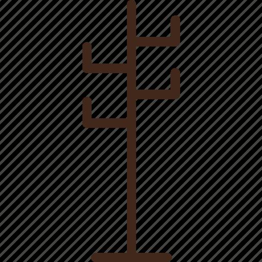 coat, furniture, hanger, holder, jacket icon