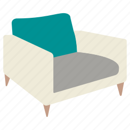 armchair, chair, club, furniture, lounge, rest, seat icon