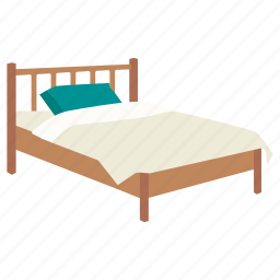 accommodation, bed, bedroom, cabin, furniture, platform, single icon