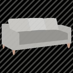 divan, furniture, lounge, rest, sofa icon