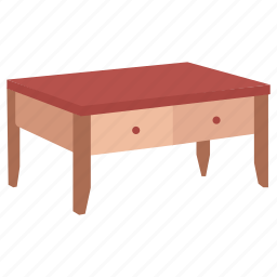 cocktail, coffee, furniture, low, stand, table icon