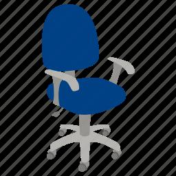 adjustable, chair, ergonomic, furniture, office, swivel icon
