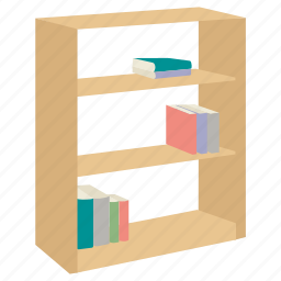book, bookcase, bookshelf, case, furniture, shelf, stand icon