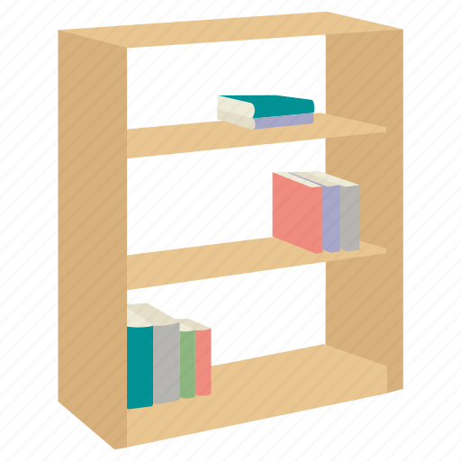book, bookcase, bookshelf, case, furniture, shelf, stand icon
