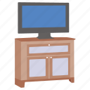 cabinet, furniture, stand, television, tv, video icon